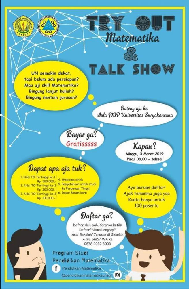 Try out Matematika dan Talk Show