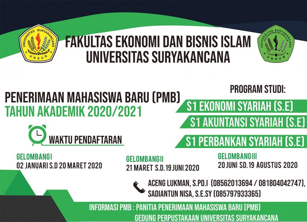 Penerimaan mahasiswa baru 2020 / 2021