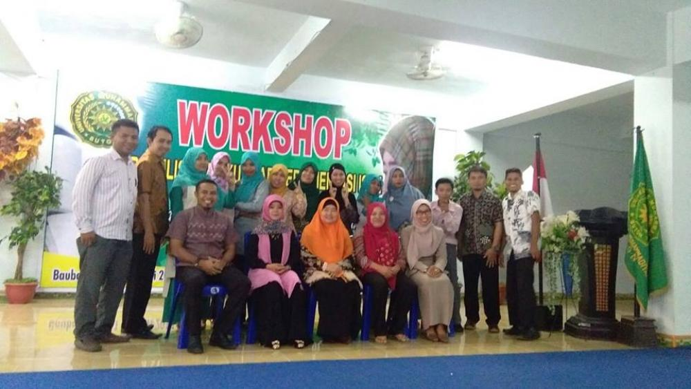 Workshop Penulisan Buku Ajar Berorientasi ISBN di  UMB Buton