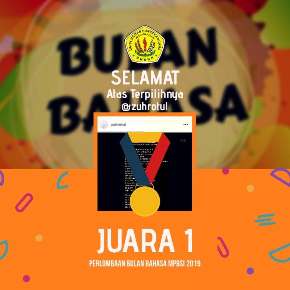 Zuhrotul Fikriyah Surya Hati, juara Lomba System Online diadakan MPBSI