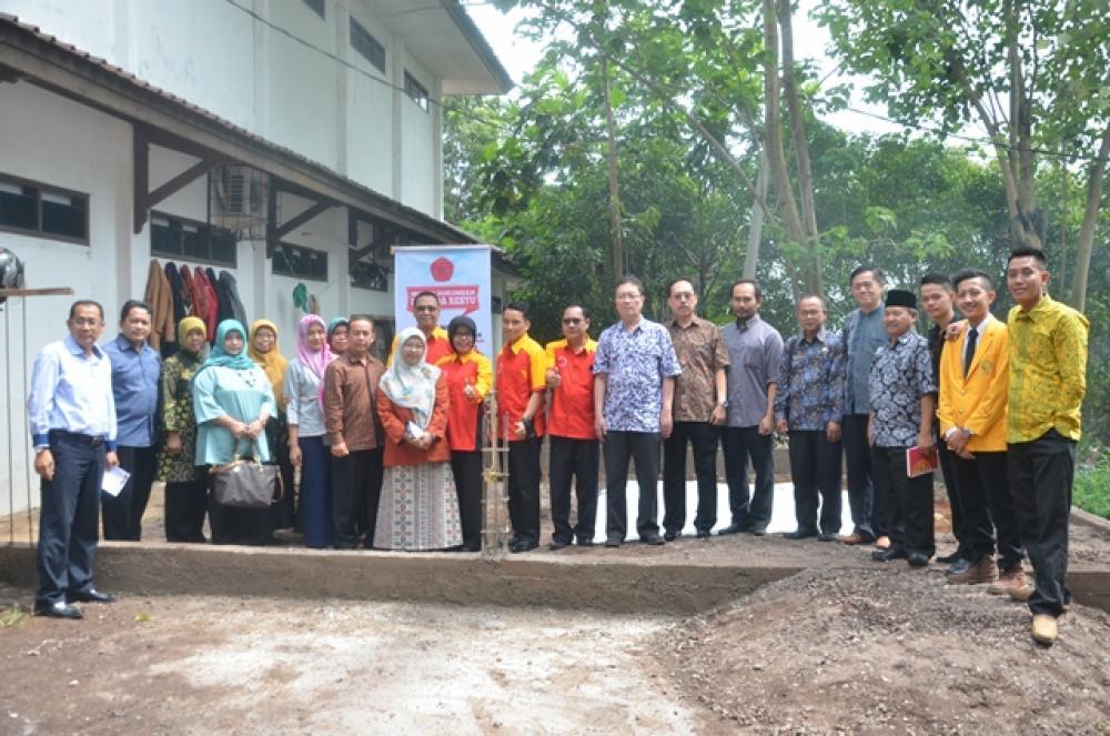 Peletakan Batu Pertama  Pembangunan Gedung kemahasiswaan Fakultas Hukum