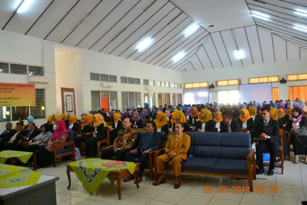 Pembukaan Sidang SKRIPSI  Fakultas Keguruan dan Ilmu Pendidikan Tahun Akademik 2018-2019