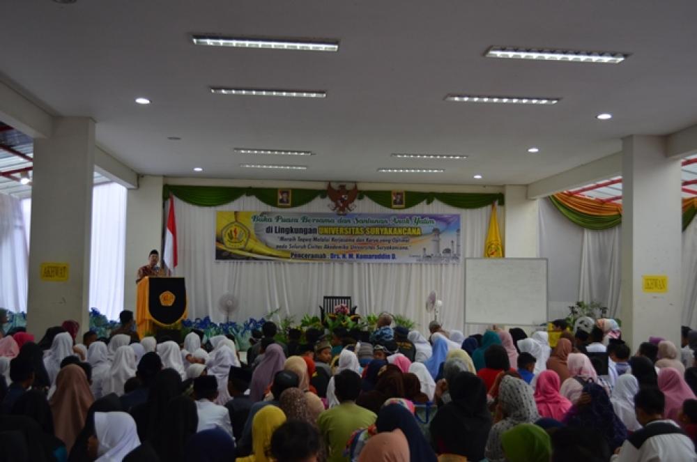Buka Puasa Bersama dan Santunan Anak Yatim di lingkungan UNIVERSITAS SURYAKANCANA 10 Ramadhan 1439 H