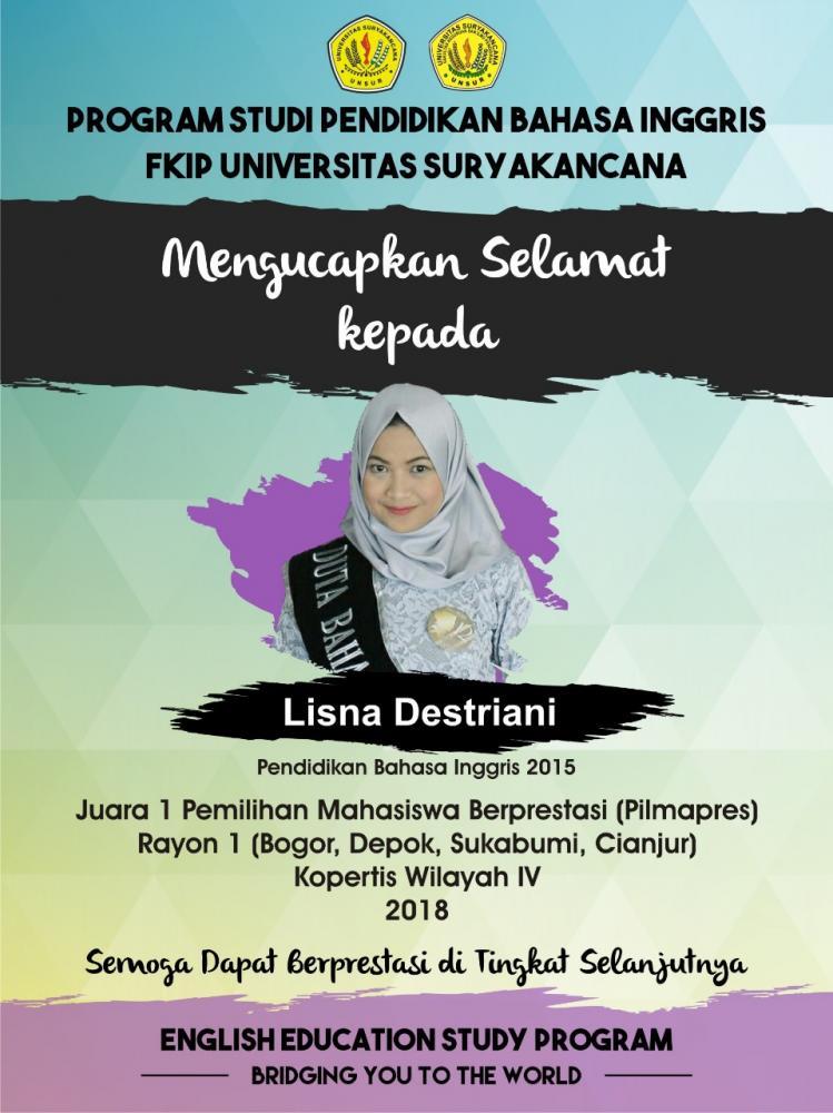 Universitas Suryakancana (Unsur) Cianjur jadi Pemenang Pemilihan Mahasiswa Berprestasi (Mawapres) Rayon I Tingkat Koordinasi Perguruan Tinggi Swasta (Kopertis) Wilayah IV Jawa Barat tahun 2018