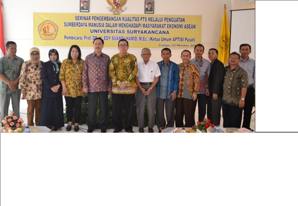 Seminar Pengembangan Kualitas PTS melalui  penguatan sumber daya manusia dalam menghadapi MEA